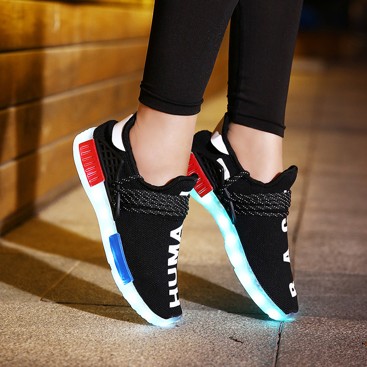 Giày FuJian  2016 summer new foreign trade led light shoes casual shoes fashion shoes breathable spo