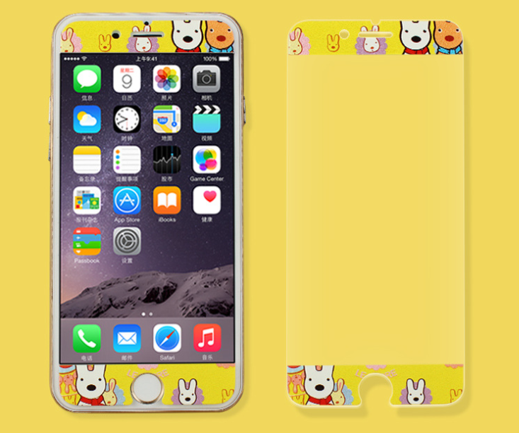 Apple mobile phones around the steel 6 cartoon film color film plus three-dimensional color steel pr