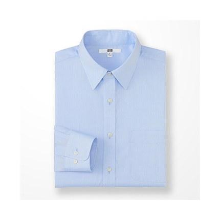 Áo sơ mi    Men worsted poplin shirt (long sleeves) 164 156 UNIQLO