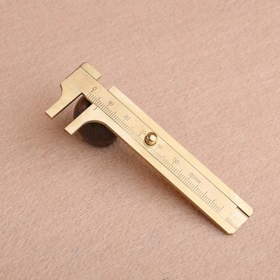 Spot single scale double scale Mini vernier caliper / copper / holomorphic Wenwan walnut small calip
