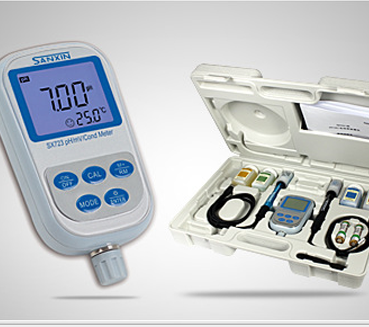 Dụng cụ phân tích  [Authorized agent] Shanghai three letters SX723 Portable pH / Conductivity Meter