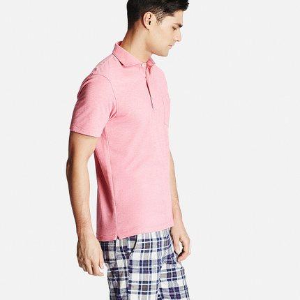 Áo sơ mi   [Special Size] Men's quick-drying shirt collar POLO shirt (short sleeves) 164 192 UNIQLO