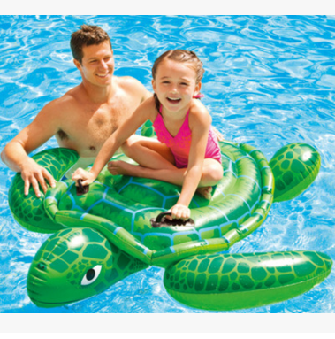 INTEX original authentic small turtles mount inflatable water swimming animal mounts toys children'
