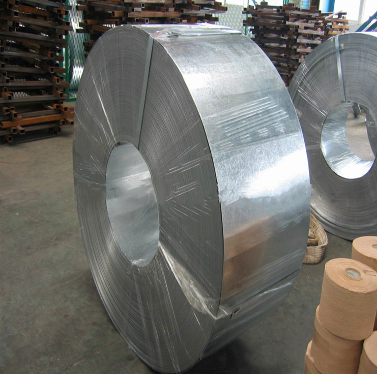 Factory direct 295-395mm galvanized steel 0.6-2mm galvanized steel strip cutting