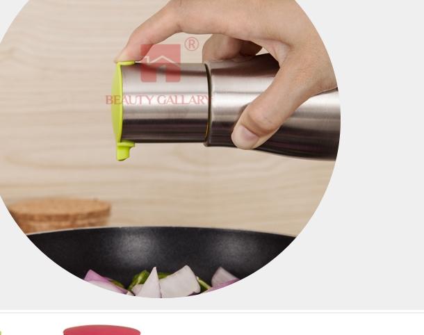 Inox  Bộ sưu tập chai lọ bằng kính + inox  để tra dầu và đựng nước tương