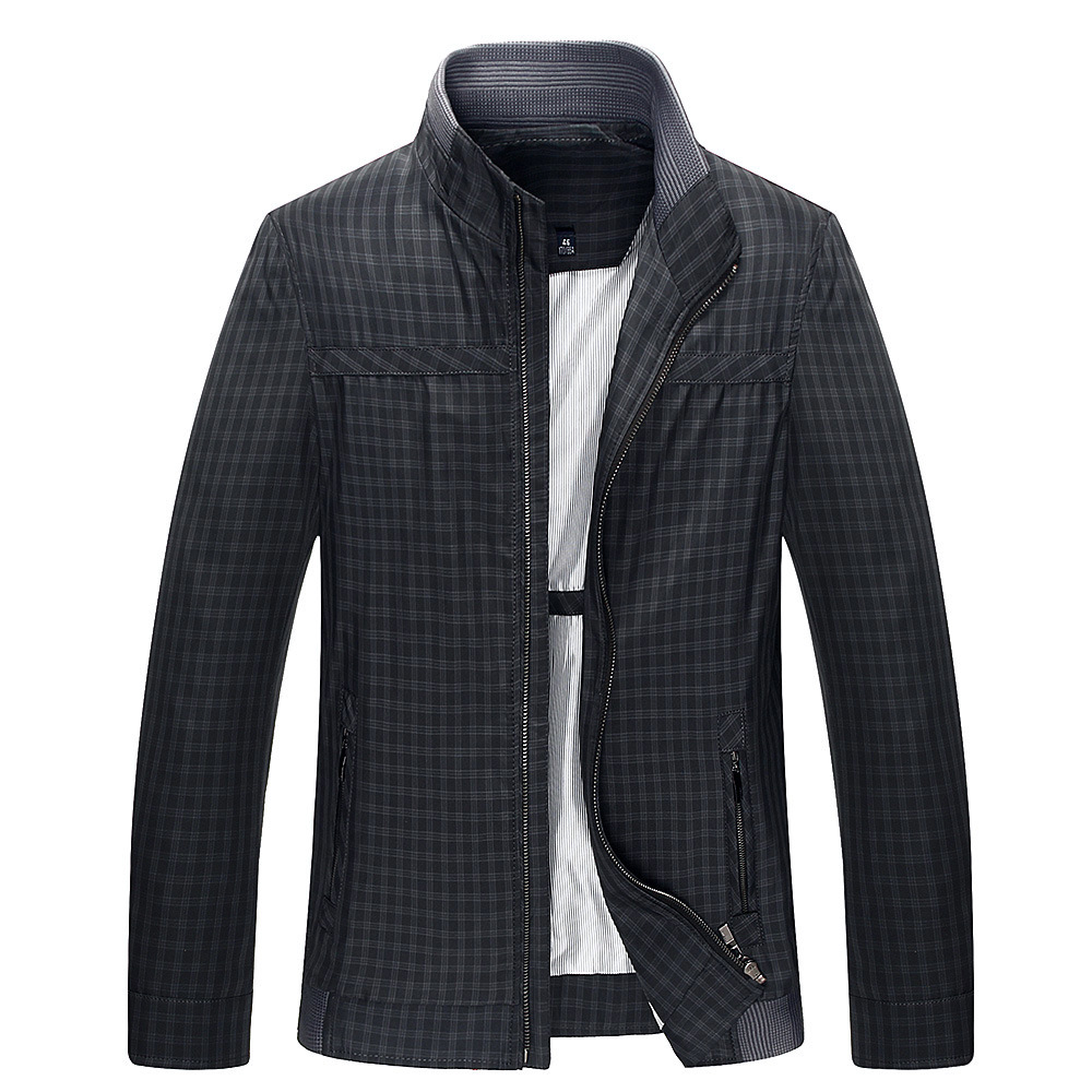 Supply Autumn new middle-aged business men plaid jacket coat new fashion M