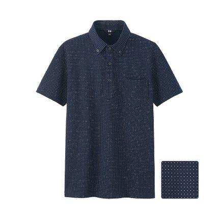 Men's quick-drying shirt collar POLO shirt (short sleeve) (dot) 169 357 Uniqlo
