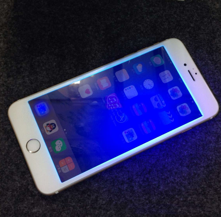 Miếng dán cường lực  iphone6 slim 0.15 blue frosted glass film 3D carbon fiber surface full coverage
