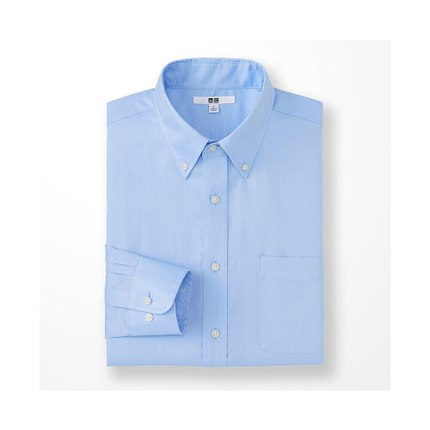 Áo sơ mi   Men worsted oxford shirt (long sleeves) 164 154 UNIQLO UNIQLO