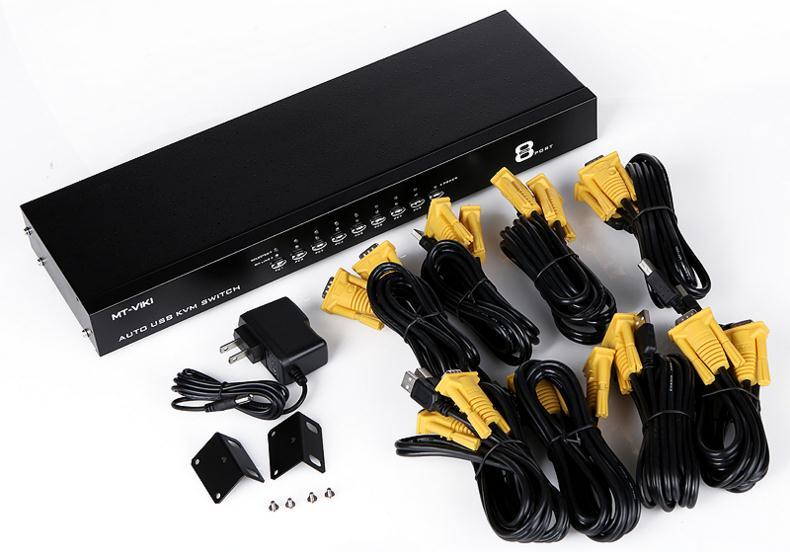 Máy chủ - Serve Maxtor MT-2108UL8 U port mouse and keyboard automatically switch 8 port KVM switch s
