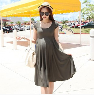 Super comfortable summer Korean Slim solid color dress new women skirt