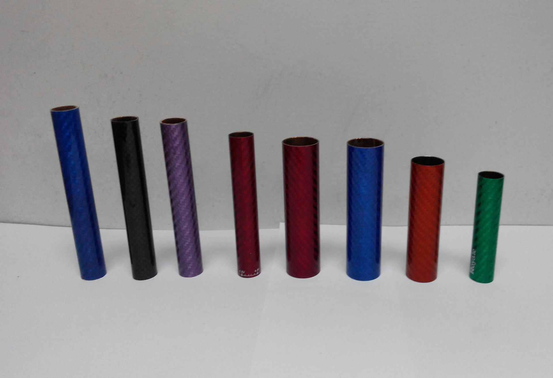 Nguyên liệu sản xuất điện tử Ống 100% sợi carbon