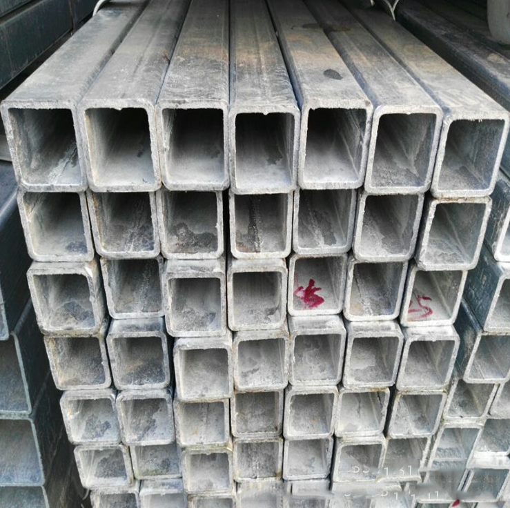 Thị trường sắt thép  25*25 Shanghai Songjiang steel market spot galvanized square steel hot dip gal