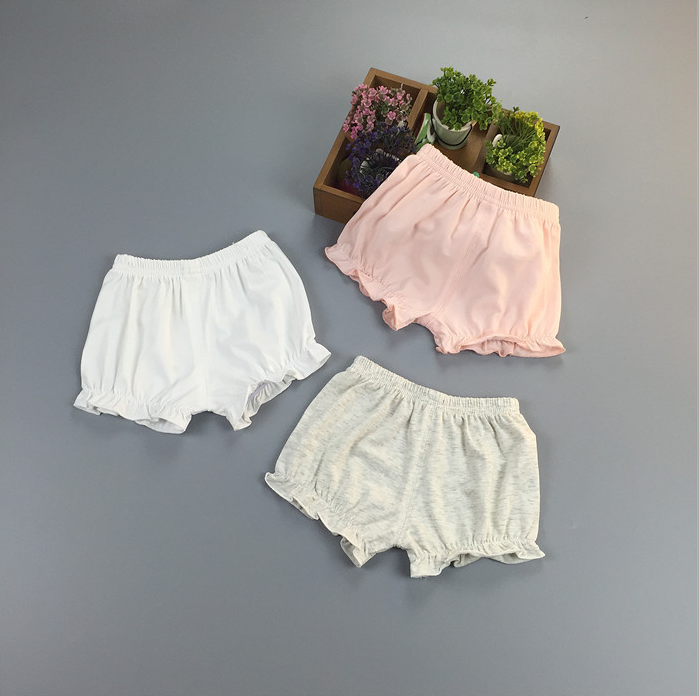 Quần   Kids girls summer thin section shorts bread pants safety pants female baby baby bottoming pa