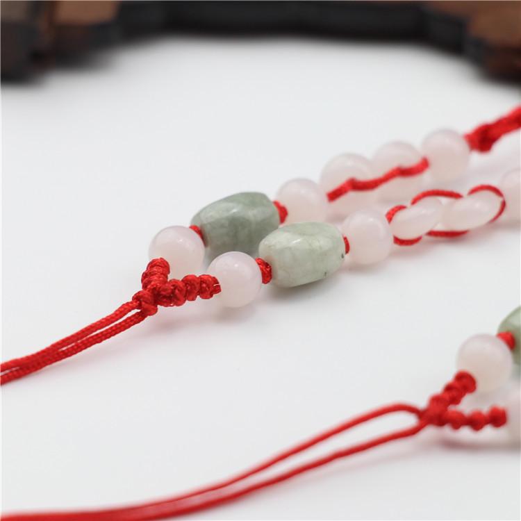 dây đeo DIY hand-woven jade jade pendant jade pendant necklace rope lanyard jewelry with