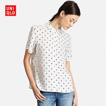 Áo sơ mi    Women fancy print shirt (short sleeves) 170 938 UNIQLO UNIQLO