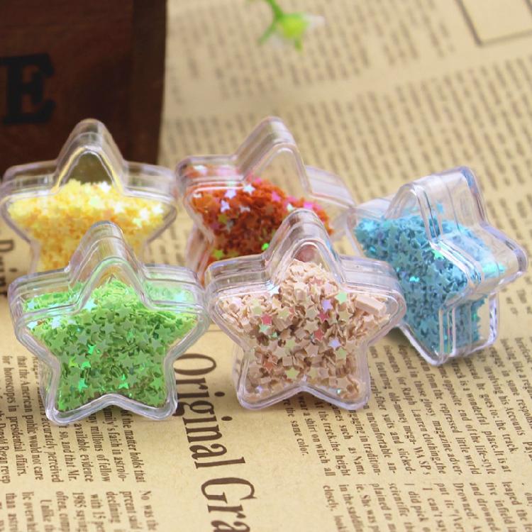 Vảy kim tuyến   Pentagram 3mm personality sequined glitter stars glitter Glitter Nail DIY jewelry co