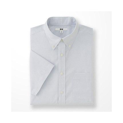 Áo sơ mi    Men DRY EASY CARE plaid shirt (short sleeve) (drying) 164 224 Uniqlo