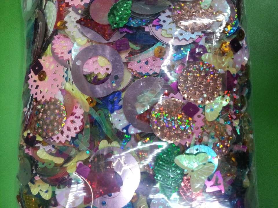 Vảy kim tuyến Sequins DIY handmade accessories, preschool nursery handmade accessories, random mixed