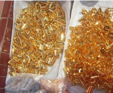 Phế thải kim loại  Old metal waste material gold-plated metal pin CCT electronic scrap material rec