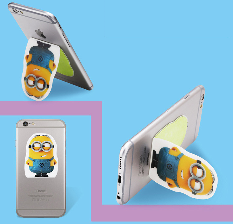 Korean version of the multi-function mobile phone charging phone holder creative backing stickers ca