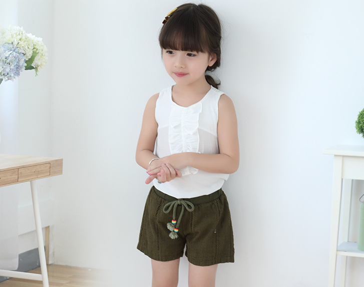 Quần   Girls shorts summer 2016 Korean version of the new female baby child cotton casual shorts su