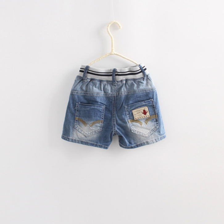 Quần   Factory direct 2016 summer girls short version of the new Korean boy pants children jeans wa