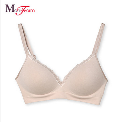 Manni comfortable and healthy underwear no rims full cup bra Seamless thin section breathable cotton
