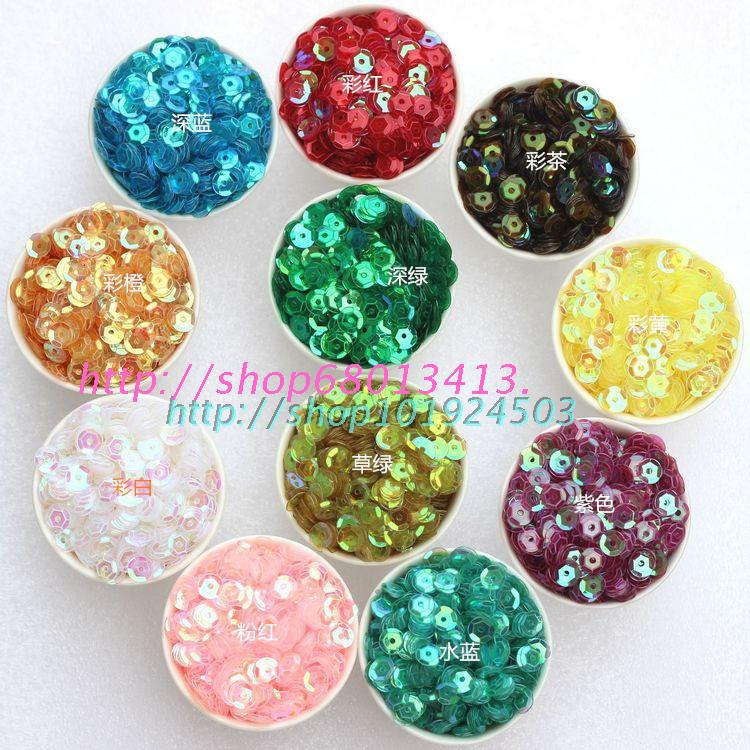 Vảy kim tuyến    DIY hand-sewn sequins beads Sequin Sequin clothing accessories 6mm sequins Caijing