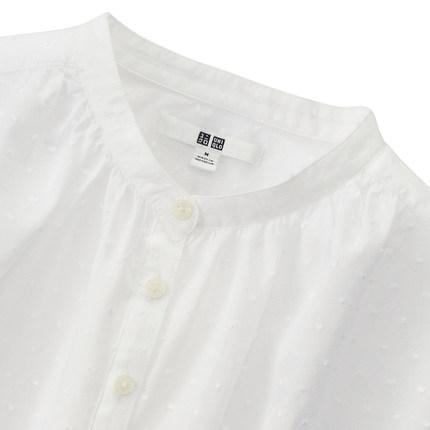 Áo sơ mi   Women jacquard shirt (short sleeves) 169 075 UNIQLO UNIQLO