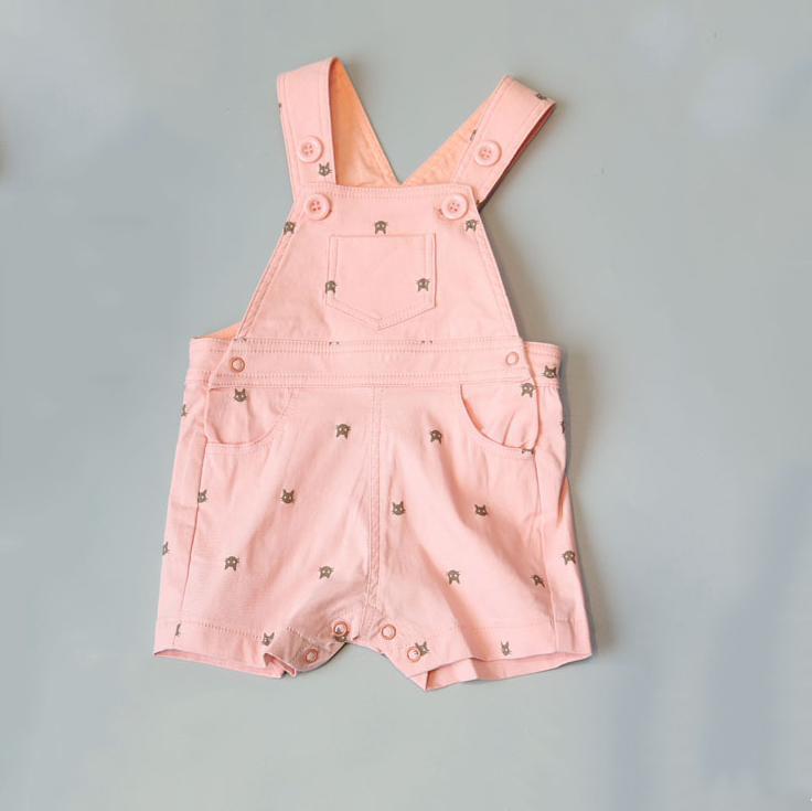 Quần 1-5 years old children 2016 summer new Korean female cute baby overalls pants small fresh