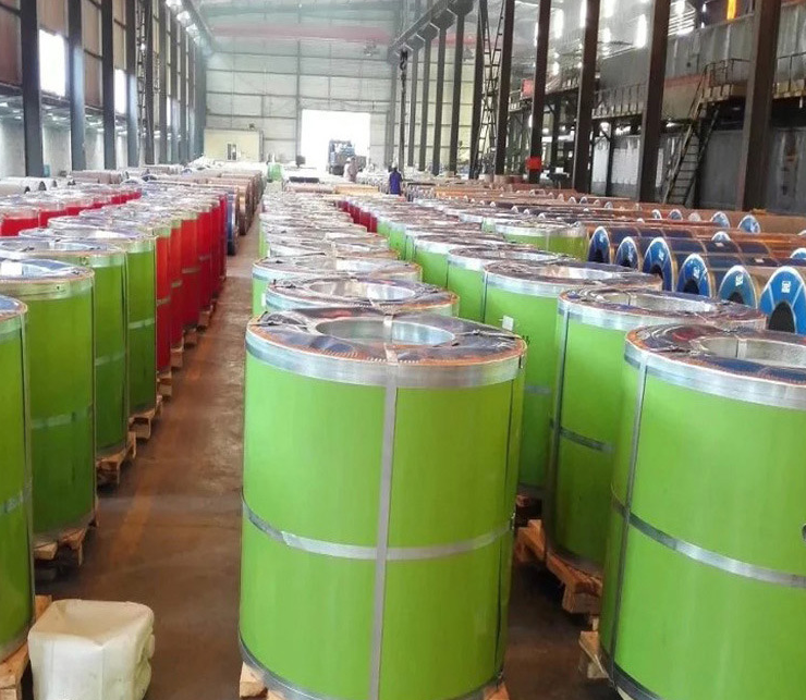 Mạ màu  Shandong Bo Heng factory direct Industrial Caigang volume color coated galvanized color ste