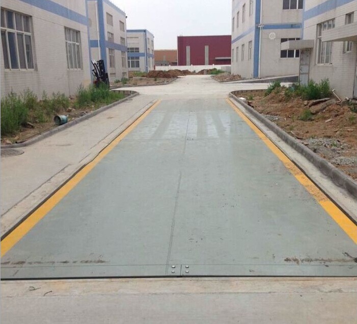 Test station digital electronic truck scale Jizhou 120 tons of electronic floor installation price
