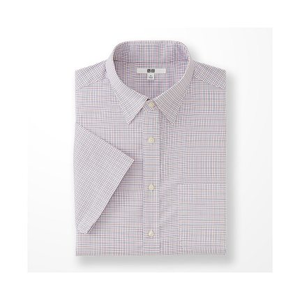 Men DRY EASY CARE plaid shirt (short sleeve) (drying) 169 233 Uniqlo