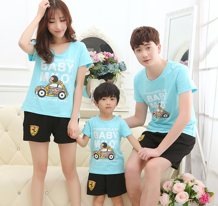 Áo thun 2016 summer new Family fitted short-sleeved t-shirt shirt suit the whole family a four lover