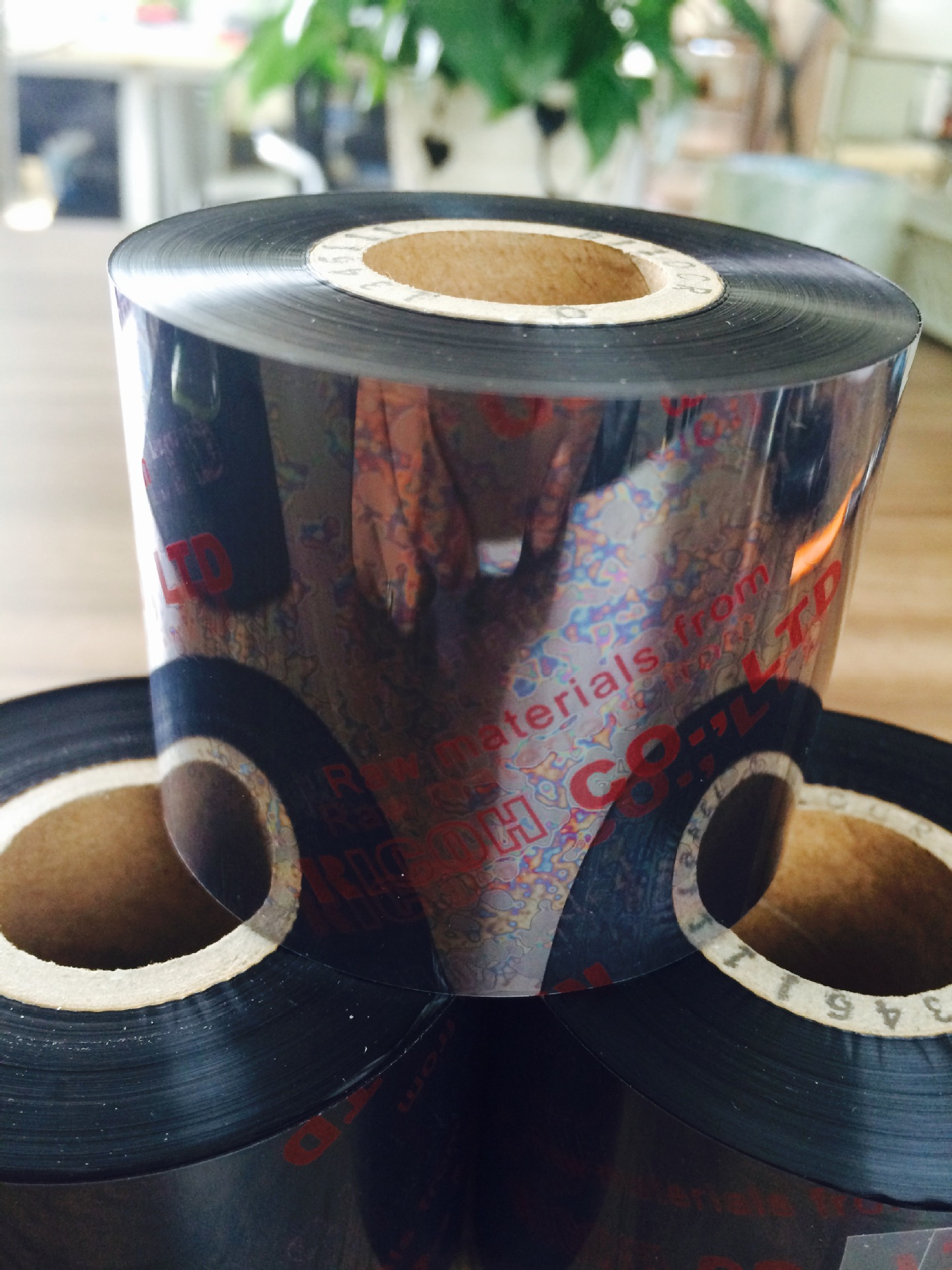 Custom Ricoh quality resins such as PET with black ribbon B110CR film class label factory outlets