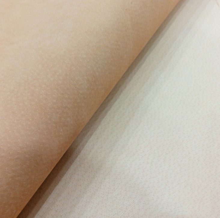 The first layer of the whole piece of apricot pigskin leather shoe leather bags Lippi