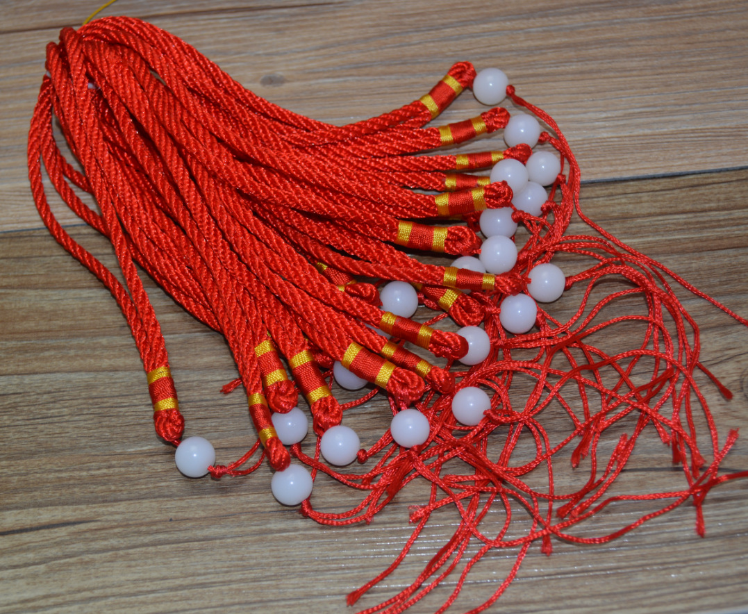 dây đeo   Ping vase handmade DIY red string necklace lanyard wholesale steadily high transfer beads