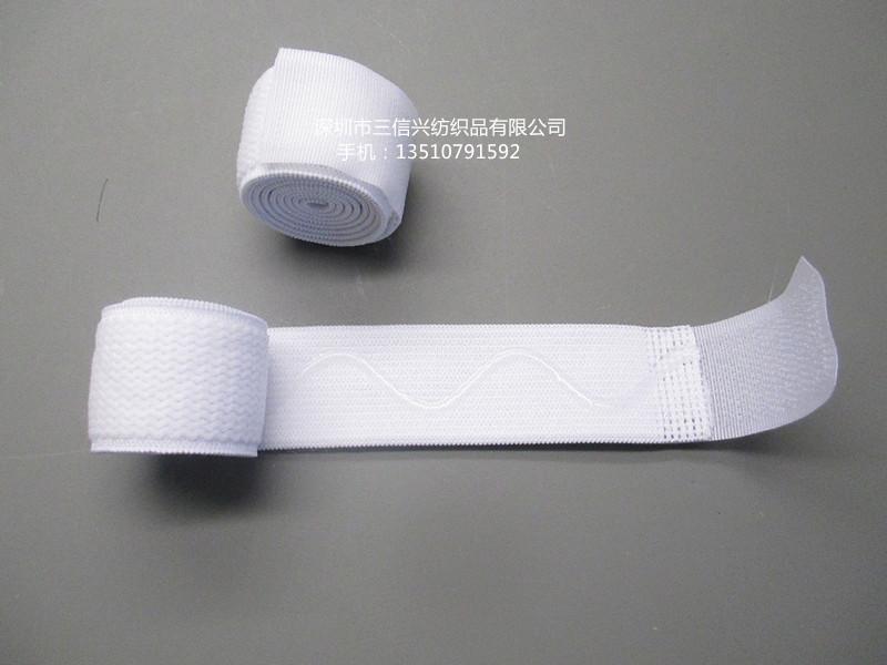 Dây thun Shenzhen factory direct white elastic Velcro straps green stretch elastic medical