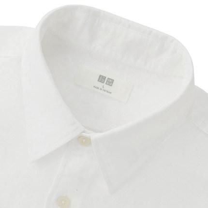 Men's cotton shirts (short sleeves) 164 225 UNIQLO