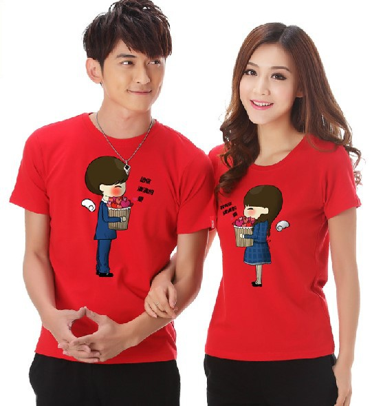 Ali Certified Korean exports lovers Korean men and women suit summer youth fashion short-sleeved T-s