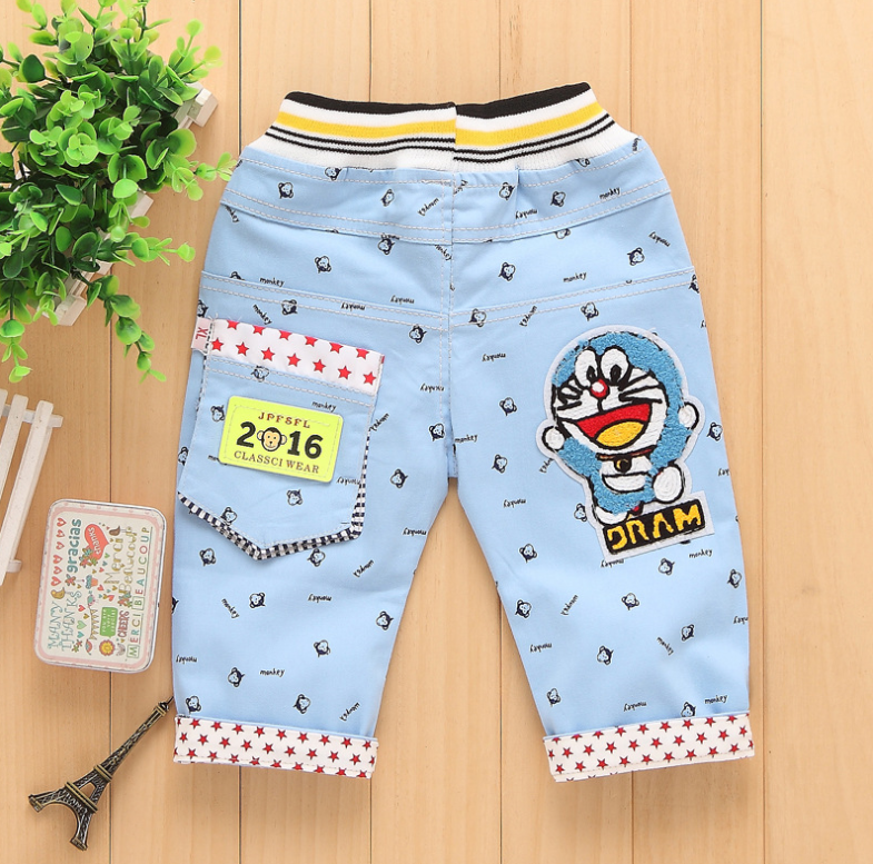 Korean version of the trend of boys pants children cartoon pants wholesale children's clothing star