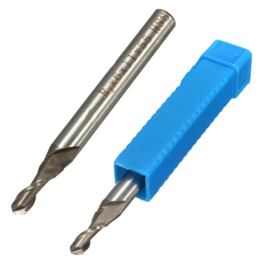 Dao phay   2 Flute Ball Nose End Milling Lathe Cutter 6mm (Intl)