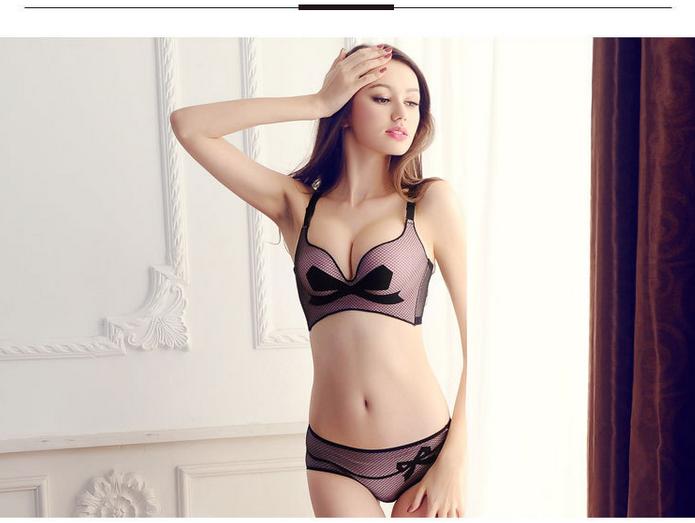 Original Genuine explosion models mesh bow bra cup massage upgraded version incognito gather adjusta