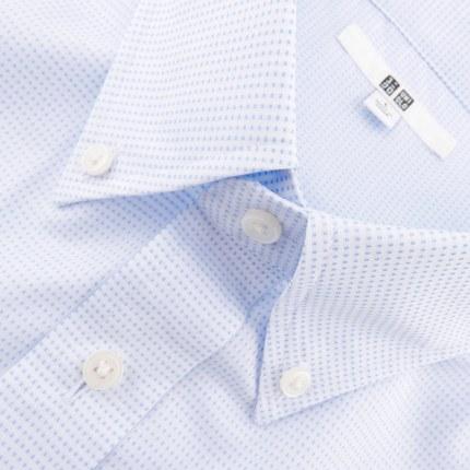 Áo sơ mi   Men DRY EASY CARE jacquard shirt (short sleeve) (drying) 169 229 UNIQLO UNIQLO