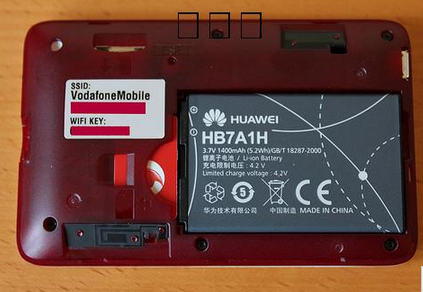 vodafone R201 Unicom 3G version of the Huawei wireless router shows the flow reading SD card