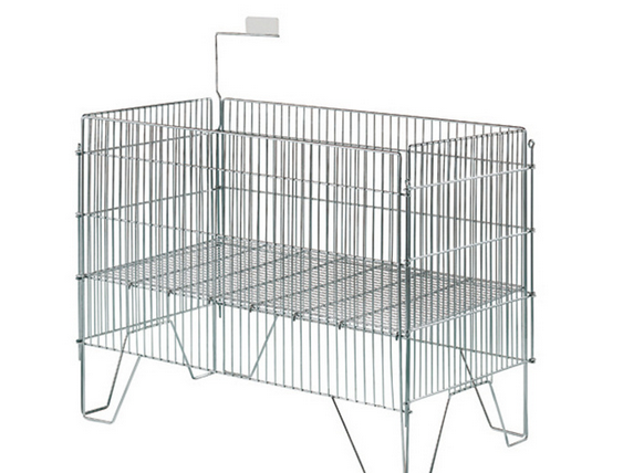 Storage cage folding storage cage metal industrial turnover box S-5 6.4 scrap iron box basket factor