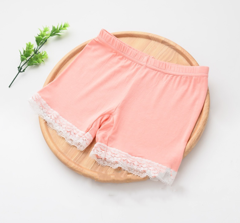 Quần   16 children female baby girls lace boxer underwear anti emptied three-point safety pants sum
