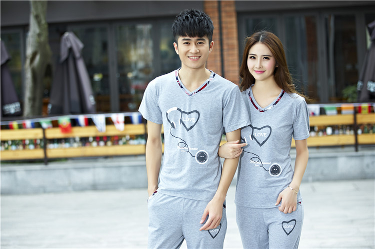 Áo thun   Lovers summer 2016 Korean version of the new T-shirt suits men and women leisure sports S