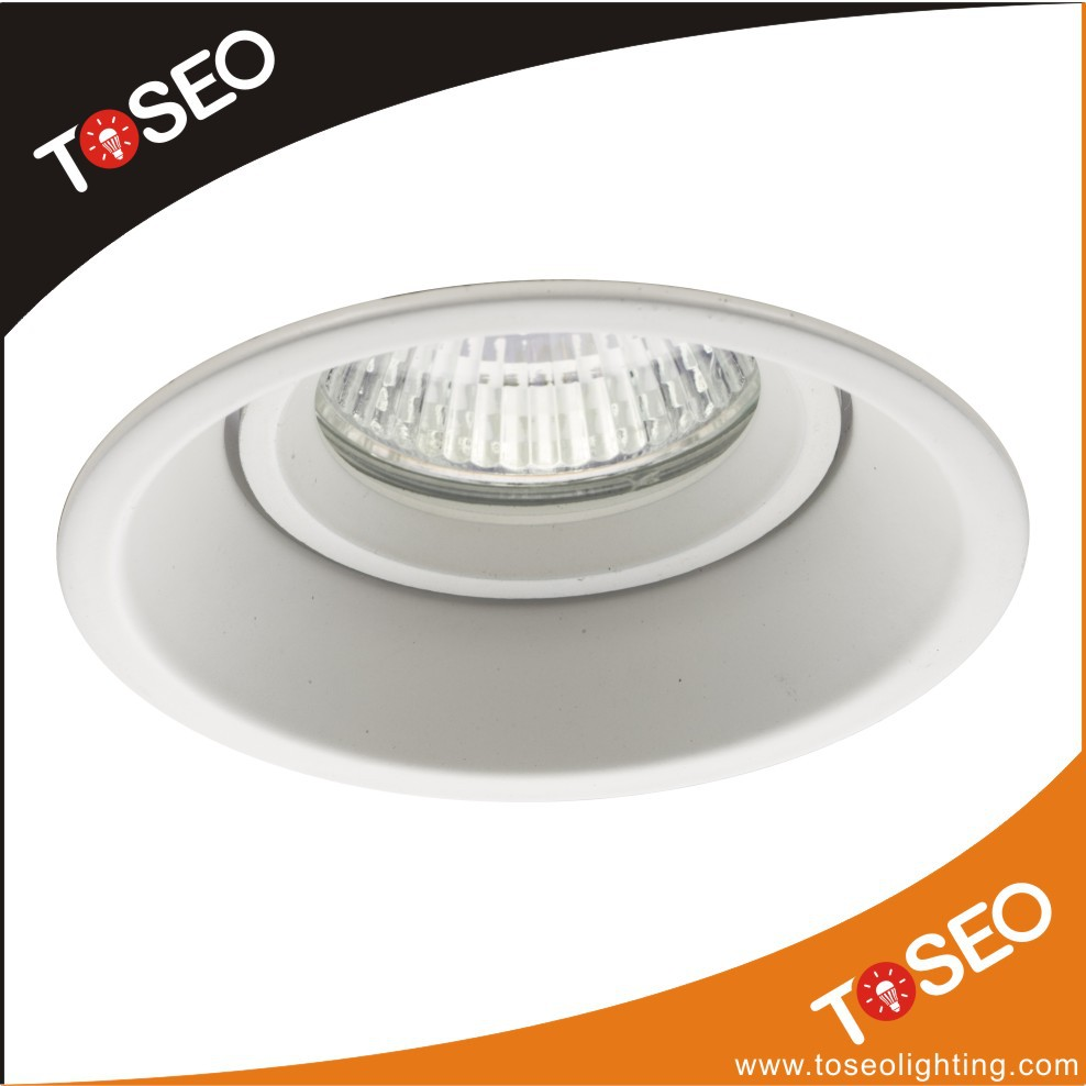 Vỏ chụp đèn âm trần  Wholesale round adjustable angle embedded ceiling lamp light shell of poly